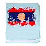 Laos Flag baby blanket