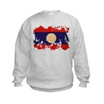 Laos Flag Kids Sweatshirt