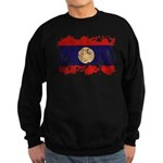 Laos Flag Sweatshirt (dark)