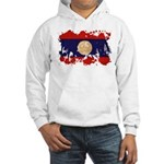 Laos Flag Hooded Sweatshirt