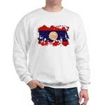 Laos Flag Sweatshirt