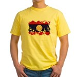 Laos Flag Yellow T-Shirt
