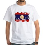 Laos Flag White T-Shirt