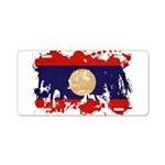 Laos Flag Aluminum License Plate
