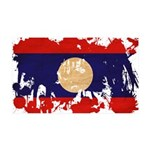 Laos Flag 38.5 x 24.5 Wall Peel