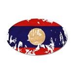 Laos Flag 38.5 x 24.5 Oval Wall Peel