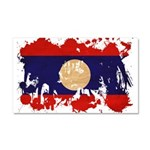 Laos Flag Car Magnet 20 x 12