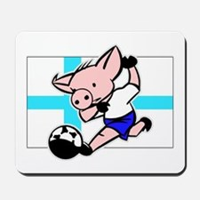 Finland Soccer Pigs Mousepad