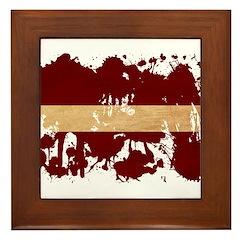 Latvia Flag Framed Tile