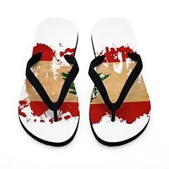 Lebanon Flag Flip Flops