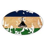 Lesotho Flag Sticker (Oval 10 pk)