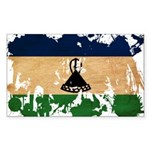 Lesotho Flag Sticker (Rectangle)