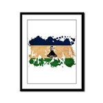 Lesotho Flag Framed Panel Print