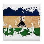 Lesotho Flag Tile Coaster