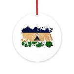 Lesotho Flag Ornament (Round)