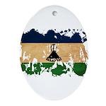 Lesotho Flag Ornament (Oval)