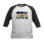 Lesotho Flag Kids Baseball Jersey