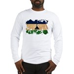 Lesotho Flag Long Sleeve T-Shirt