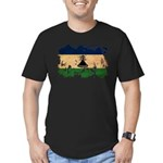 Lesotho Flag Men's Fitted T-Shirt (dark)