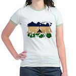 Lesotho Flag Jr. Ringer T-Shirt