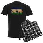 Lesotho Flag Men's Dark Pajamas