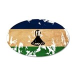 Lesotho Flag 22x14 Oval Wall Peel