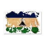 Lesotho Flag Car Magnet 20 x 12