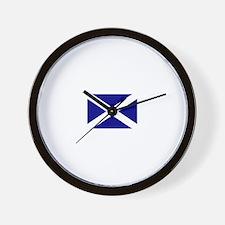 Scotland's Flag Wall Clock