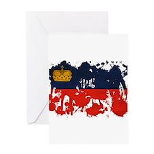 Liechtenstein Flag Greeting Card