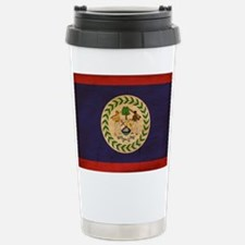 Belize Flag Stainless Steel Travel Mug