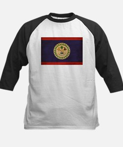 Belize Flag Kids Baseball Jersey
