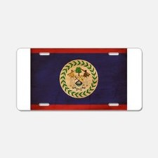 Belize Flag Aluminum License Plate