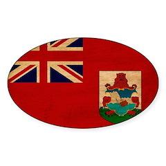 Bermuda Flag Sticker (Oval)