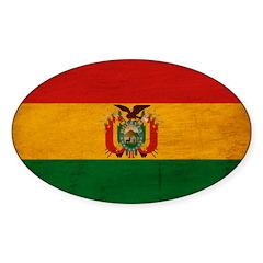 Bolivia Flag Sticker (Oval 50 pk)