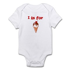 I is for Ice Cream Infant Creeper