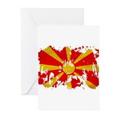 Macedonia Flag Greeting Cards (Pk of 10)
