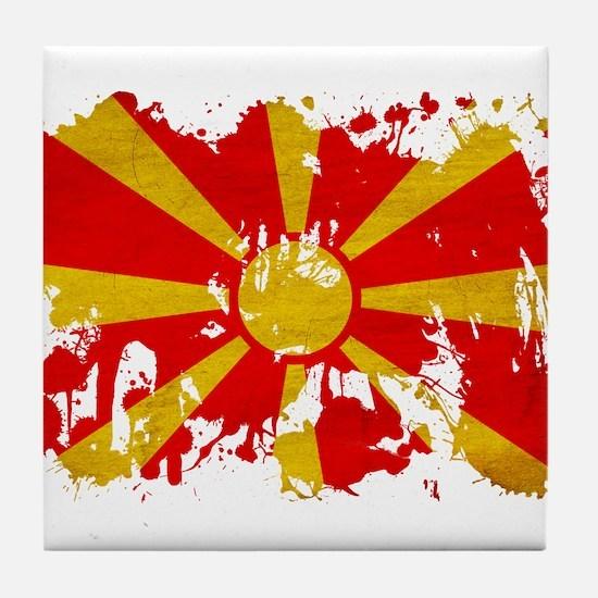 Macedonia Flag Tile Coaster