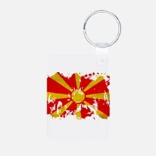 Macedonia Flag Aluminum Photo Keychain