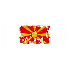 Macedonia Flag 21x7 Wall Peel
