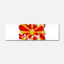 Macedonia Flag Car Magnet 10 x 3