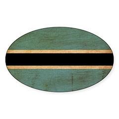 Botswana Flag Sticker (Oval 50 pk)