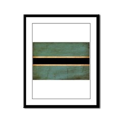 Botswana Flag Framed Panel Print