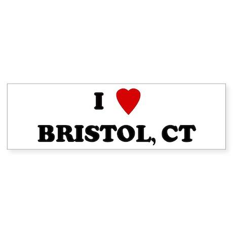 I Love Bristol Bumper Sticker