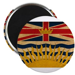 "British Columbia Flag 2.25"" Magnet (100 pack)"