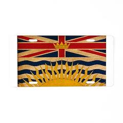 British Columbia Flag Aluminum License Plate