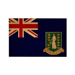 British Virgin Islands Flag Rectangle Magnet