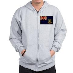 British Virgin Islands Flag Zip Hoodie