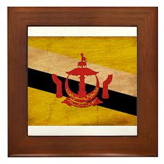 Brunei Flag Framed Tile
