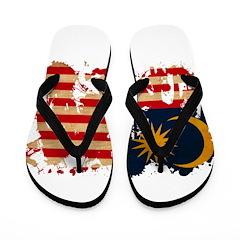 Malaysia Flag Flip Flops