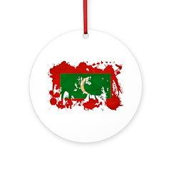 Maldives Flag Ornament (Round)